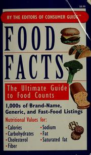 Cover of: Food facts by Consumer Guide