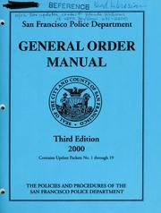 General order manual