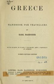 Cover of: Greece by Karl Baedeker (Firm)