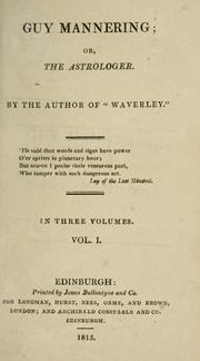 Cover of: Guy Mannering by Sir Walter Scott