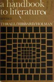 A handbook to literature by William Flint Thrall, Addison Hibbard