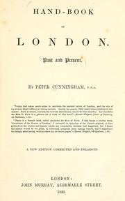 Cover of: Handbook of London by Cunningham, Peter