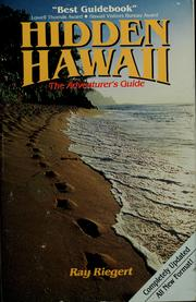 Cover of: Hidden Hawaii by Ray Riegert