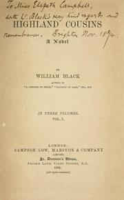Cover of: Highland cousins by Black, William