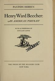 Henry Ward Beecher by Paxton Hibben