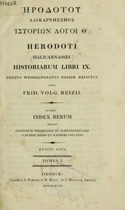 Cover of: Historiarum libri IX by Herodotus