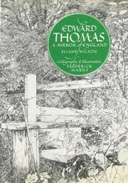 Cover of: Edward Thomas by Thomas, Edward