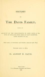 History of the Davis family by Albert Henry Davis