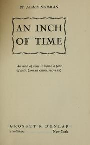 Cover of: An inch of time by Norman, James