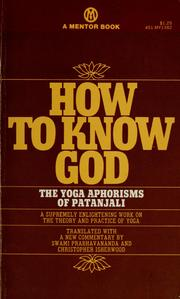 Cover of: How to know God by Patañjali.