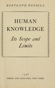 Human Knowledge Foundations and Limits