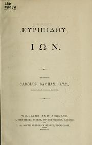 Cover of: [In] by Euripides