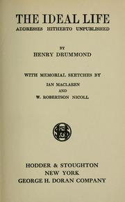 The ideal life by Henry Drummond