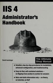 Cover of: IIS 4 administrator's handbook by David Iseminger