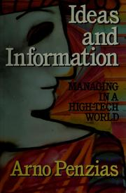 Cover of: Ideas and information by Arno A. Penzias