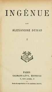 Cover of: Ingénue by Alexandre Dumas
