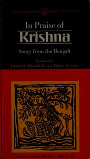 In praise of Krishna by Edward C. Dimock