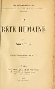 Bte humaine by mile Zola