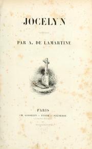 Jocelyn by Alphonse de Lamartine