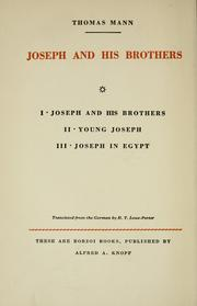 Cover of: Joseph in Egypt by Thomas Mann