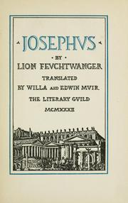 Cover of: Josephus by Lion Feuchtwanger