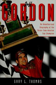 Cover of: Jeff Gordon by Gary L. Thomas