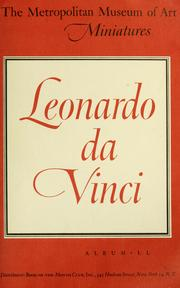 Cover of: Leonardo da Vinci by Leonardo da Vinci