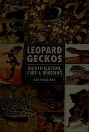 Cover of: Leopard geckos by Raymond E. Hunziker