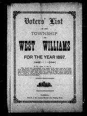Cover of: Voters' list of the township of West Williams for the year 1897 by West Williams (Ont.)