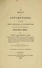 An essay on apparitions by Alderson, John