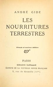 Cover of: Les nourritures terrestres by André Gide