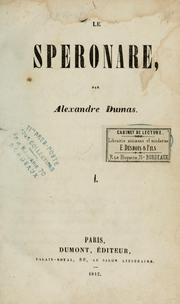 Cover of: Le speronare by Alexandre Dumas