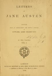 Letters of Jane Austen by Jane Austen