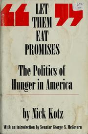 Let them eat promises by Nick Kotz