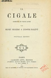 Cover of: La cigale by Meilhac, Henri
