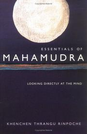 Essentials of Mahamudra by Thrangu Rinpoche