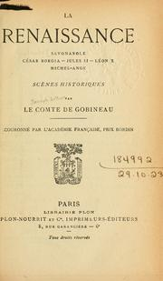 La renaissance by Gobineau, Arthur comte de