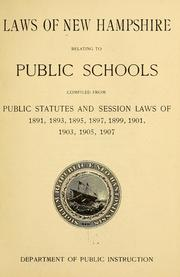 Laws of New Hampshire relating to public schools by New Hampshire