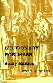 Cover of: Lectionary for Mass (U.S.) by Catholic Church