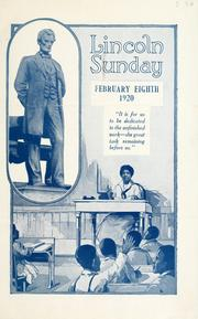 Lincoln Sunday, February eighth, 1920 by American Missionary Association