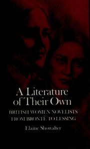 Cover of: A literature of their own by Elaine Showalter