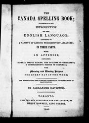 The Canada spelling book by Alexander Davidson