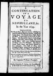 Cover of: A voyage to New-Holland, &c. in the year 1699 by William Dampier