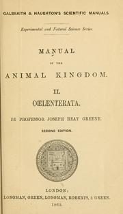 A manual of the sub-kingdom Coelenterata by Joseph Reay Greene