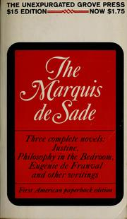 The Marquis de Sade by Marquis de Sade