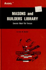 Masons and builders library by Louis M. Dezettel