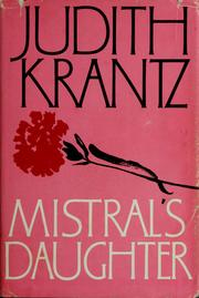 Cover of: Mistral's daughter by Judith Krantz