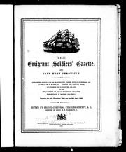The Emigrant soldiers' gazette, and Cape Horn chronicle by Charles Sinnett