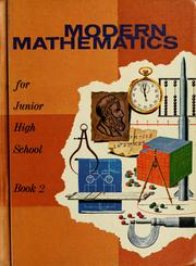 Cover of: Modern Mathematics for junior high school by Myron Frederick Rosskopf