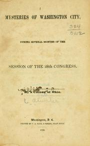 Cover of: Mysteries of Washington city by Caleb Atwater